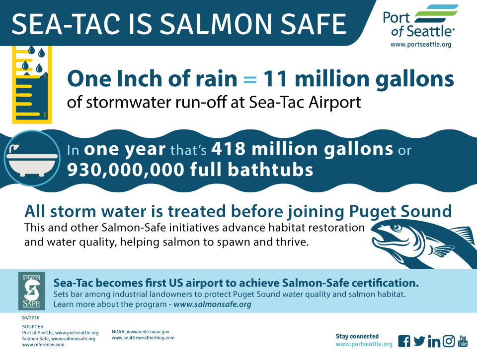 Sea Tac Airport Is First In The Us To Achieve Salmon Safe